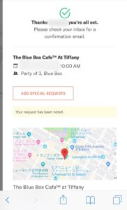TheBlueBoxCafe at tiffany