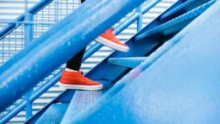 青いステップ
