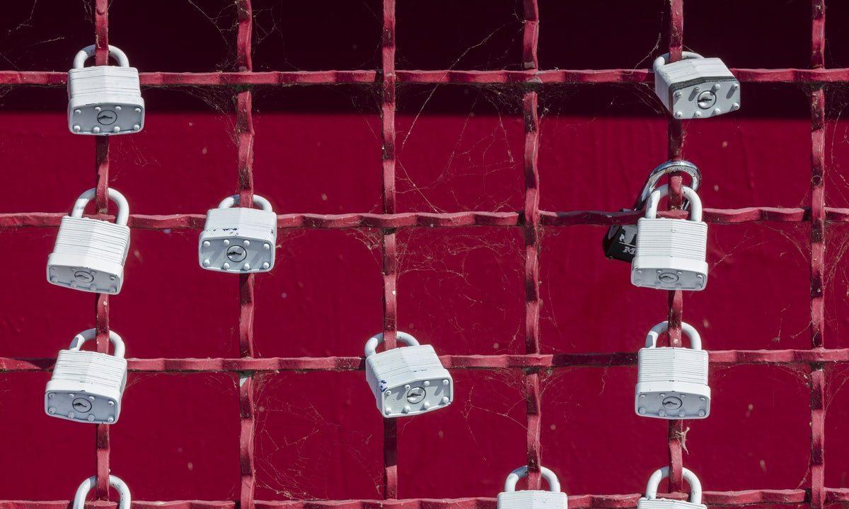 網にかけられた鍵