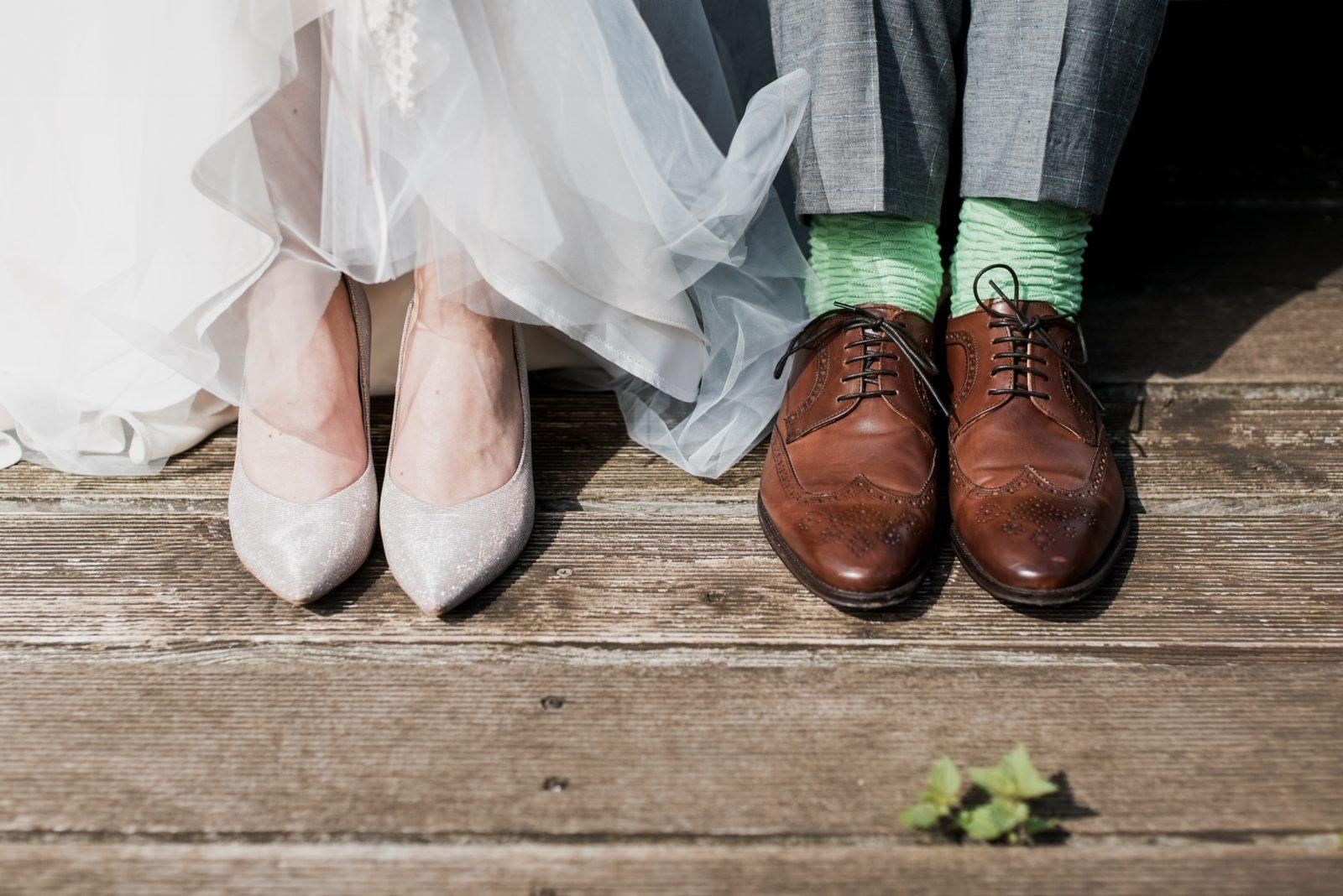 チュールスカートと靴